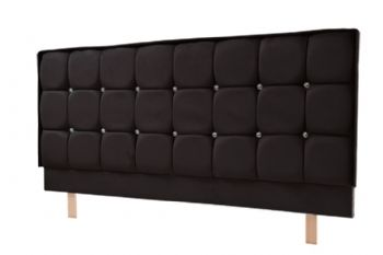 Crystal Headboard S Series in Faux Suede Black, Brown or Stone